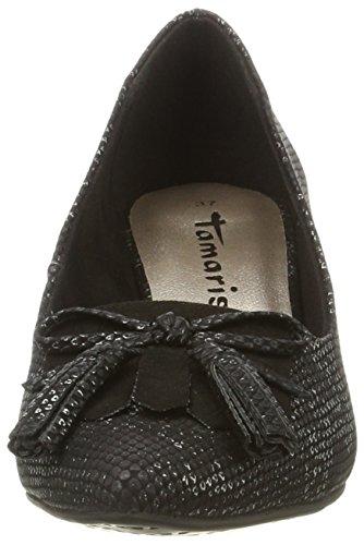Noir Struct Femme 22411 006 Escarpins Black Tamaris AnFq4TtwF