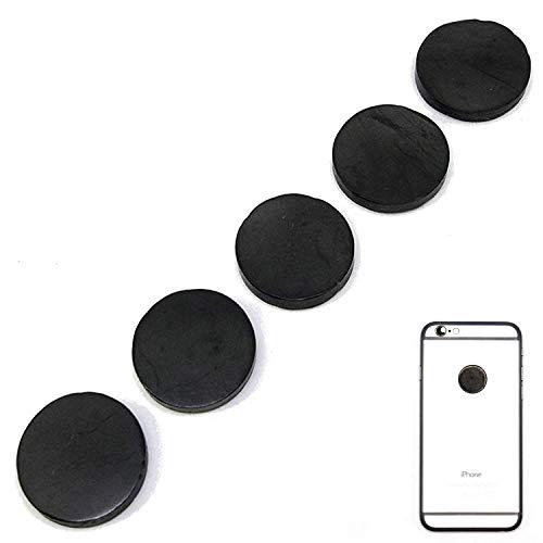Radiation Protection for Cellphones/Laptop - Anti EMF/EMR Radiation Sticker - Radiation Shield Blocker - Set of 5 Polished Shungite Plate Sticker for Mobile Phone - Shungite Stickers for Cell Phone (Mobile Phone Protection)