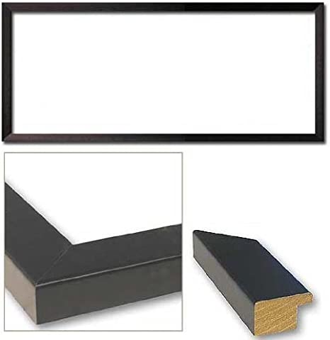 36x14 Modern Black Wood Picture Frame With Acrylic Front and Foam Board Backin