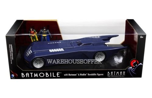 New 1:24 W/B BATMAN CLASSIC TV SERIES - BATMOBILE WITH BATMAN & ROBIN BENDABLE FIGURES Model Car By NJCroce