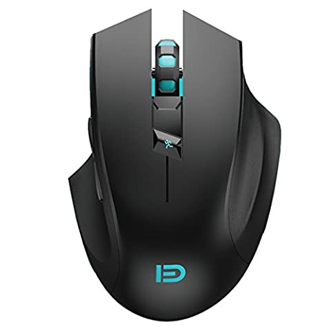 Forter i720 Silent Plus 2.4G Wireless Gaming Mouse with USB Nano Receiver, 6 Buttons, 3 Adjustment DPI Level (2400/1600/1000) for PC, Laptop and Mac - (Wireless Mouse Zebra)