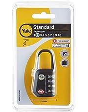 Yale YTP5/31/223/1 Yönetici Şifreli Asma Kilit (TSA Onaylı) - Siyah - Blister