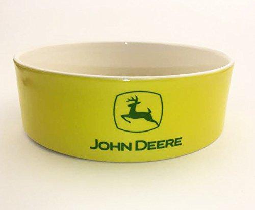 John Deere Bowl : John deere tractor logo green and yellow ceramic dog bowl
