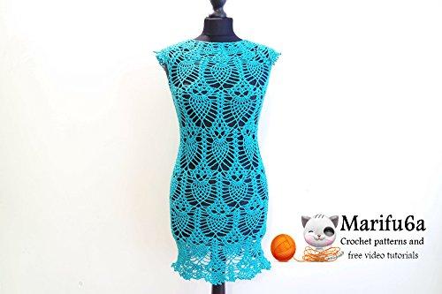 Crochet Pineapple Dress Tunic With Owls Pattern Pdf By Marifu6a