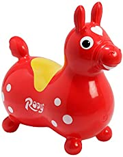 Ledraplastic 8002 Rody - Caballo de salto inflable, color rojo [Importado de Alemania]
