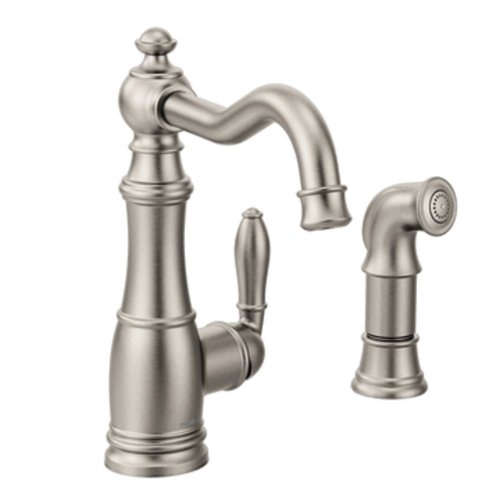 Moen S72101SRS Weymouth One-Handle High Arc Kitchen Faucet, Spot Resist Stainless