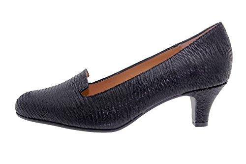 Extra Black Women's 7226 Leather Pump Comfort PieSanto Depth Negro xqYP4HHn