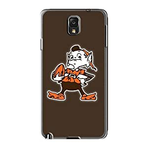 Shock-Absorbing Hard Cell-phone Case For Samsung Galaxy Note 3 (kXM1230oLCs) Unique Design Vivid Cleveland Browns 10 Pattern