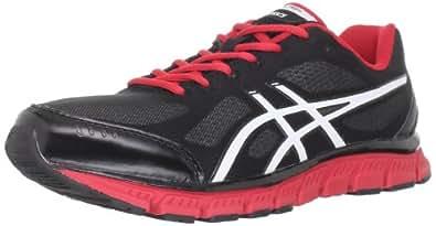 ASICS Men's GEL-Flash Running Shoe,Black/White/Red,8.5 M US