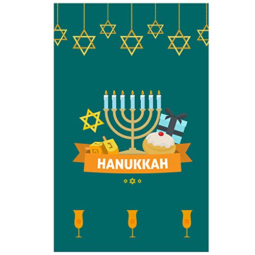 "BANNER BUZZ MAKE IT VISIBLE Hanukkah Garden Flag 12"" X 18"" - Decorative Ornate Chanukah Menorah Candle Holiday House Flag, 110gsm Polyester Fabric Yard Flag for Outdoor Decor (Single Side Print) ()"