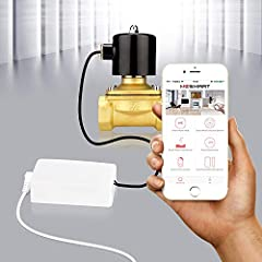 Features:  Smart Phone APP control, can be remotely controlled to turn on/ off and check status any time. (Home hub is not required):  Enable automatic open/close operation.  Control your electric switch or valve no matter where you are via y...
