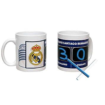 Taza REAL MADRID con pizarra marcador: Amazon.es: Hogar