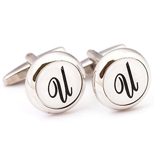 Digabijewelry Initial Cufflinks (Alphabet Letter) by Men's (Alphabet Collection)