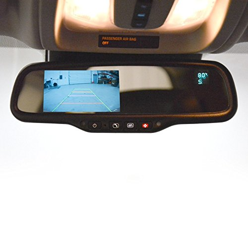Brandmotion GM OnStar Auto Dimming Mirror with 4.3'' LCD Display, Compass and Temperature FLTW-7696