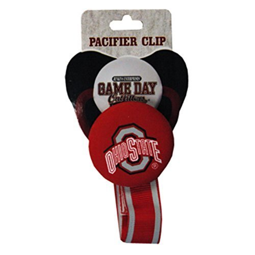 Officially Licensed NCAA Ohio State Buckeyes College Colors Infant/Baby Pacifer Clip by Augusta - College State Mall