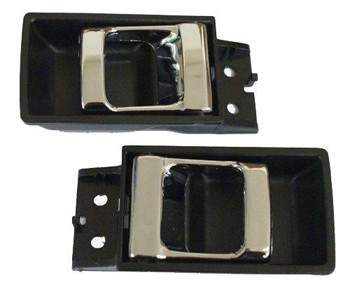 - LatchWell PRO-4000678 Interior Door Handle Pair in Black & Chrome for Nissan Hardbody Pickup Truck & Pathfinder