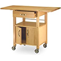 SJ Collection B21100004 Granville Drop-Leaf Kitchen Cart Natural, Small, Beechwood