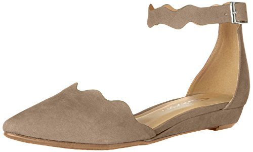 CL by Chinese Laundry Women's Studio Pointed Toe Two Piece Flat, Dark Taupe Super Suede, 6.5 M US