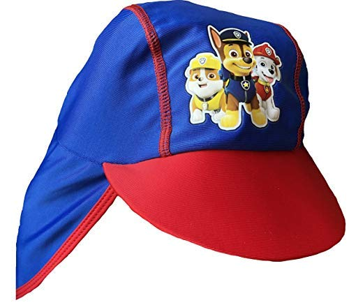 promo code e6183 0e58a Paw Patrol Red Blue Boys Sun Hat with UPF 40 Protection and Neck Cover 3-5  Years  Amazon.co.uk  Clothing
