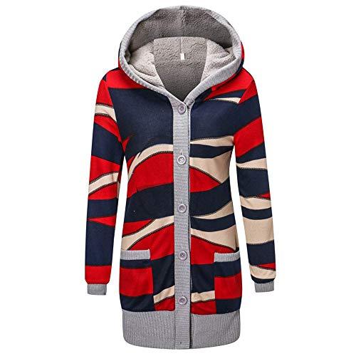 Linlink Moda Casual Mujer Imprimir Invierno Cálido Parka Outwear Abrigo Outercoat