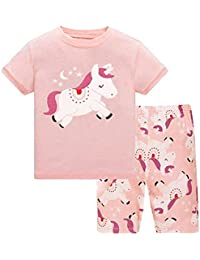 Little Girls Pajamas Short Sleeve 100% Cotton Toddler Pjs Clothes Sleepwear  Sets Size 2 to 25a069562
