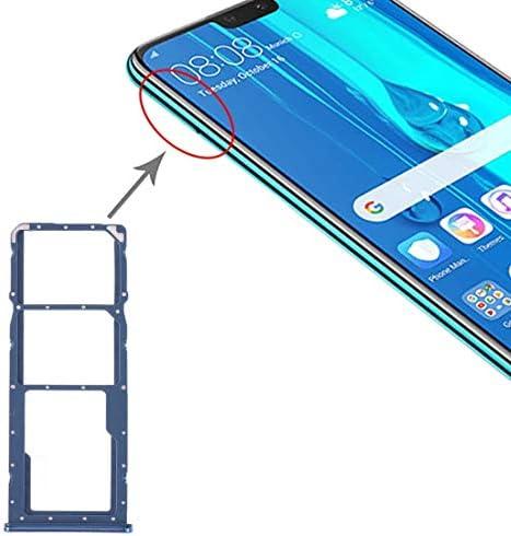 XIXI Telefoon SIMkaartladeSIMkaartladeMicro SDkaartlade voor Huawei Y9 2019 zwart Blauw