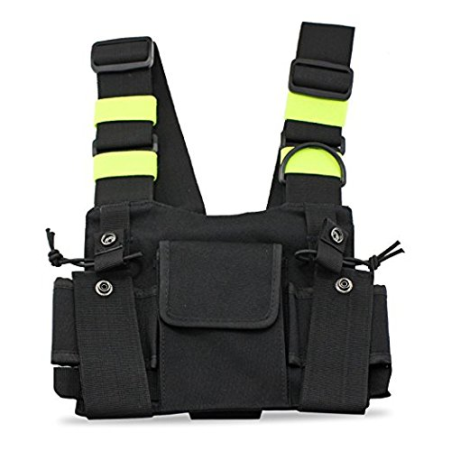 Amazon.com: Abbree Radio Chest Harness Chest Front Pack Pouch ...