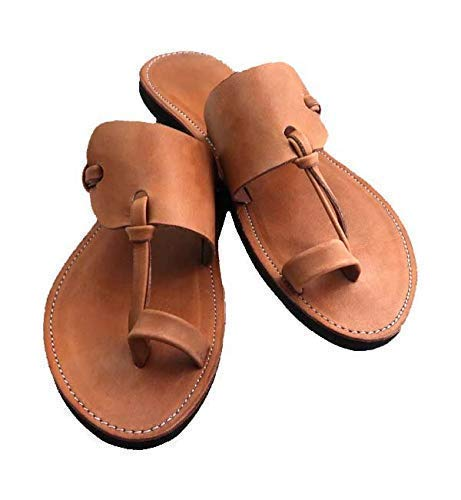 GlobalHandmade MIDSUMMER men's brown leather sandals,Men Sandals,Summer sandals,Leather sandals, Handmade Sandals, Sandals for Hubby, Sandals Bohemian, Rustic chic sandals, Size 5-17 ()