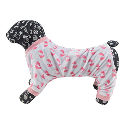 Image of CuteBone Dog Pajamas Flamingo/Pink Pig Dog Apparel Dog Jumpsuit Pet Clothes Pajamas Puppy Clothes P56L