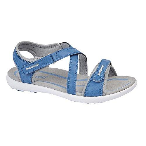 Pdq Sandalias Cruzadas con Cierre Adhesivo Para Mujer Azul