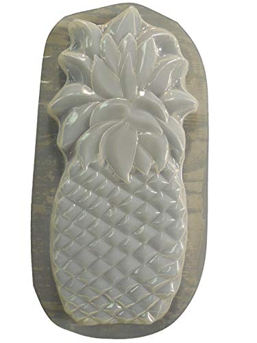 Huge Pineapple Plaque Stepping Stone Concrete or Plaster Mold 7262 (Pineapple Stone)