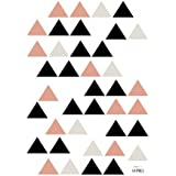 Lilipinso-Stickers A3 triangles noirs et corail Origami play by Claudia Soria (29,7 x 42 cm)