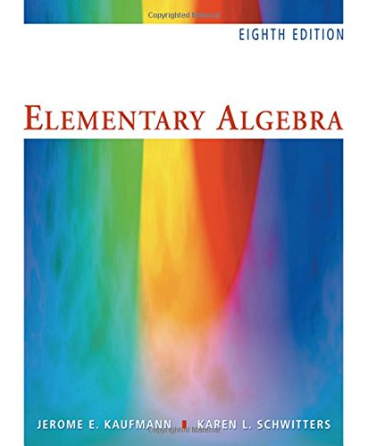 Elementary Algebra (with CD-ROM) - 8th Edition