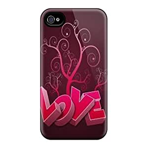 Premium Protection Love Case Cover For Iphone 4/4s- Retail Packaging