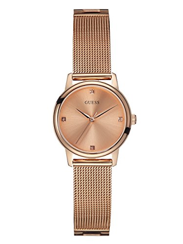 GUESS-Womens-U0532L3-Diamond-Accented-Rose-Gold-Tone-Watch-with-Mesh-Bracelet