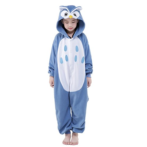 Newcosplay Unisex Children Owl Pyjamas Halloween Costume (8-height 53-55