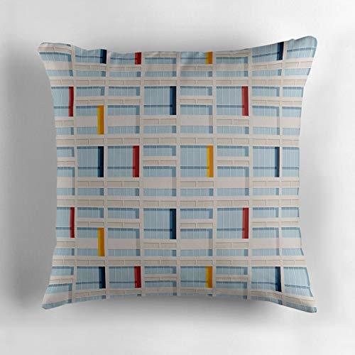 Le Corbusier Sofa Bed - Jidmerrnm Le Corbusier Facade S03 2 Decorative Cotton Sofa Home Decor Throw Pillow Case Cushion Cover Square 18x18 Inch