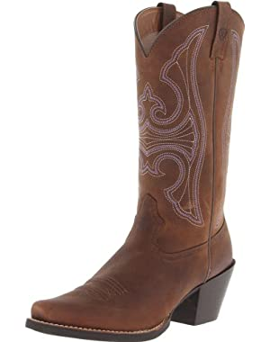 Women's Round Up D Toe Western Cowboy Boot