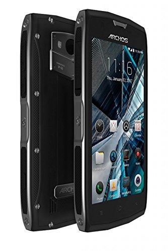 bolsa del cinturón / funda para Archos Sense 50X, negro | caja del teléfono cubierta protectora bolso - K-S-Trade (TM)