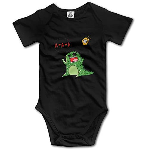 XHX Newborn Baby's Shouting Angry Dinosaur Short Sleeve Romper Onesie Bodysuit Jumpsuit ()