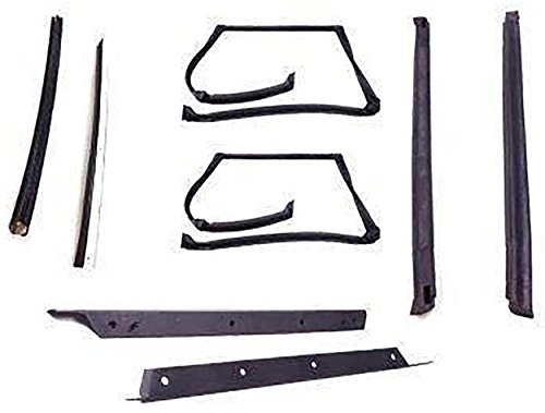 Firebird T-top Weatherstrip - APDTY 140003 T-Top Rubber Seal Weatherstrip 8-Piece Kit Fits 1982-1992 Camaro or Firebird (Includes Rubber Trim Drip Edges; See APDTY-140002 For Plastic Drip Trim Edges)