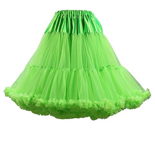 Courte Petticoat Tulle Underskirt en Femme Rockabilly Jupe Petticoat Vert Fruit Vintage Rock Rqg5Zwxt