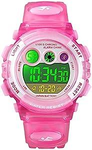 Kids Digital Sport Watch for Boys Girls,Multi Function LED 50M Outdoor Waterproof Electronic Wristwatch for Ch