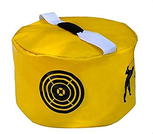 Amazingli Golf Impact Power Smash Bag Hitting Bag Swing Training Aids Waterproof Durable (Yellow) ()