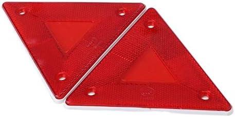 IENPAJNEPQN Las Nuevas 2 PC Tri/ángulo de Emergencia Reflector Avisos de Seguridad luz de la Placa Trasera del Remolque de Bomberos del Coche
