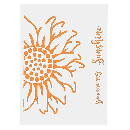 (ShineBear A4 A3 A2 You are My Sunshine Sunflower Stencils for Scrapbooking Painting Album Card Making Craft Decorative Embossing Template - (Size: A3 Size29.7 by 42cm))