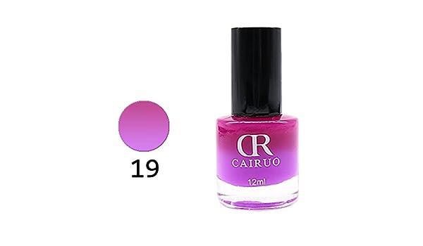 ❀ LED UV Esmalte de uñas Fundador de color, higlles Control de la temperatura de color aceite, no tóxico para la salud, 12ml-26 colores: Amazon.es: Belleza