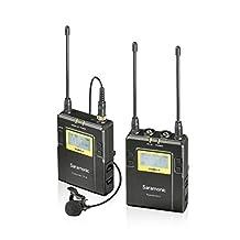 Saramonic UWMIC9 96-Channel Digital UHF Wireless Lavalier Microphone System (UWMIC9) with Bodypack Transmitter, Portable Receiver, Lav Mic, Shoe Mount, XLR/3.5mm Outputs (RX9+TX9)