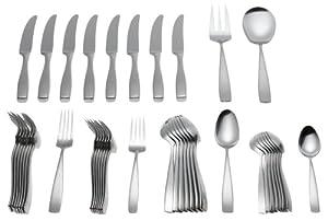 Yamazaki bolo 42 piece stainless steel flatware set service for 8 flatware sets - Yamazaki stainless steel flatware ...