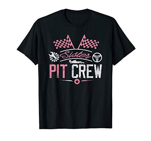 Pit Crew Costumes Girl - Racing Car Sister Racer Shirt Sister